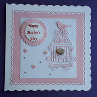 Mother's Day Card with Keepsake Charm, Birthday Card
