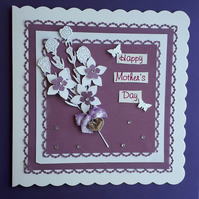 Mother's Day Card with Heart Keepsake Charm - Mum birthday card