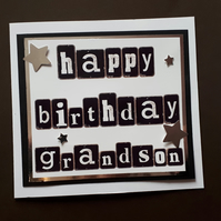 Grandson Birthday Card - Son, Dad, Grandad, Brother,Nephew, Uncle,Cousin