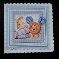 Personalised 1st Birthday Card Great Grandson, son, brother, nephew