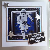 Stormtrooper Father's Day Card Star Wars