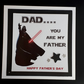 Darth Vader Father's Day Card Star Wars Dad