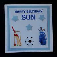 Personalised Birthday Card or Father's Day Card