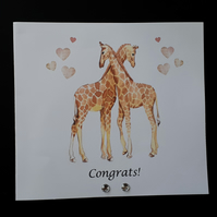 Giraffe Congratulations Card