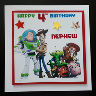 Personalised Toy Story Birthday Card, Son, Grandson, 3rd,4th 5th,
