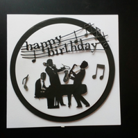 Male Music Birthday Card