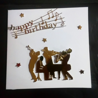 Music themed Male Birthday Card, Dad, Son Grandad, Husband, Brother,Uncle,Nephew
