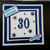 Personalised Birthday Card, men, 18, 21, 30, 40, 50