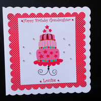 Female Birthday Card - Birthday Cake