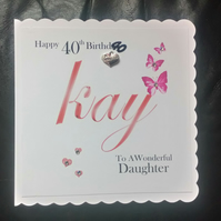 Handmade Personalised Birthday Card - Mum, Grandma, Sister,