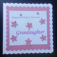 Personalised Female Birthday Card. Mum, Nan, Sister , Daughter