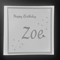 Personalised Female Birthday Card, Any and Age