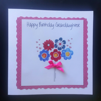 Personalised Birthday Card, Mum, Nan, Sister