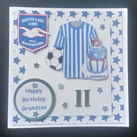 Personalised Football Team Birtday Card