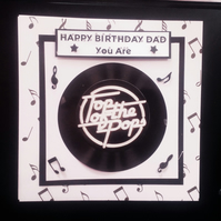 Handmade Personalised Birthday Card, Father's Day, - Dad. Top of the Pops