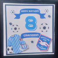 Personalised Football Crest Birthday Card