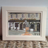 Greyfriars Bobby, Edinburgh original watercolour painting