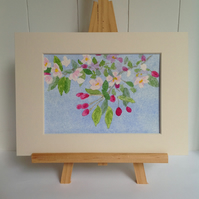 'Spring Blossom' mounted original watercolour