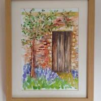 Original watercolour The Garden Door