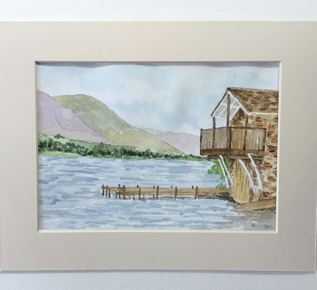 Boathouse at Ullswater original watercolour painting