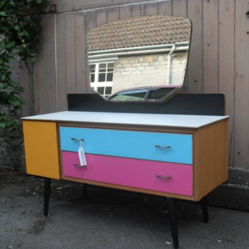 1960s Upcycled Dressing Table Folksy