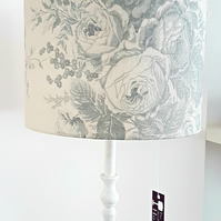 Lampshade with blue roses