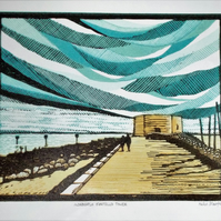 Aldeburgh Martello Tower linocut