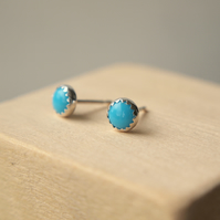Turquoise Stud Earrings  5mm size