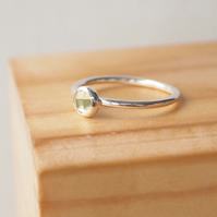 Yellow Quartz Ring