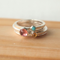 Family Birthstone Ring Set