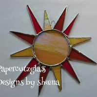 stained glass sun