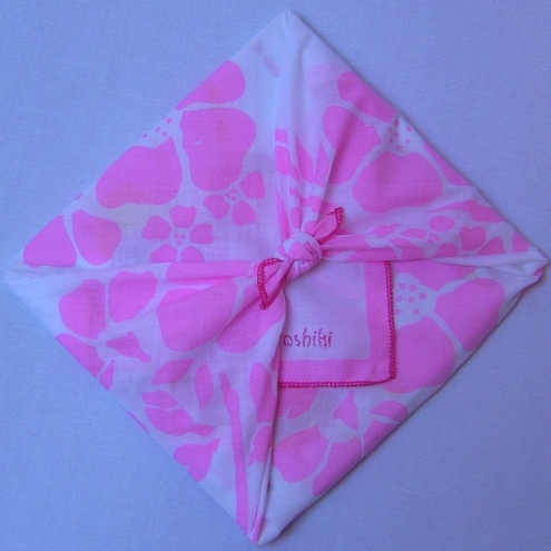 my furoshiki - mini pink cherry blossom fabric wrap