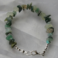 Green Gemstone Chip Bracelet