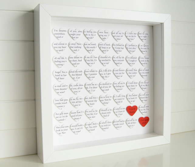 Personalised Hearts Frame Wedding Engagement Folksy