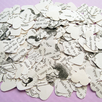 1000 Alice In Wonderland Heart Book Confetti - Wedding Table Decor