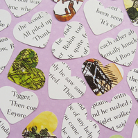 100 Winnie the Pooh Heart Confetti - Baby Birthday Christening Party Decor