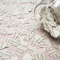 2000 Harry Potter Heart Novel Book Confetti - Wedding Table Decoration Hearts
