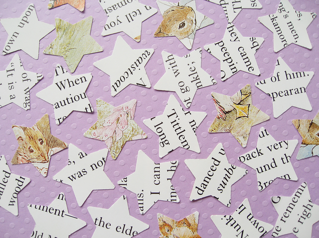 100 Beatrix Potter Star Confetti - Baby Shower Christening Birthday Party Decor