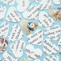 100 Beatrix Potter Heart Confetti - Baby Birthday Christening Party