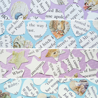 100 Beatrix Potter Confetti - 4 shape choices - Baby Shower Christening Party