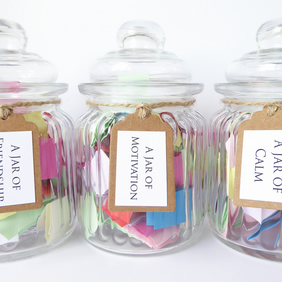 A Jar of Quotes - Choose Motivation, Friendship or Calm - Handmade Message Jars