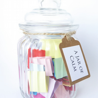 A Jar of Calm - Caliming quotes affirmations - Handmade Jar