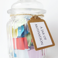 A Jar of Motivation - Positive Encouraging Quotes - Wellness Self Care Gift