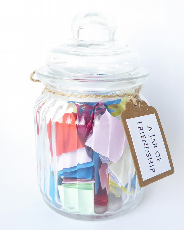 A Jar of Friendship - Perfect Gift For A Friend - Handmade Quotes