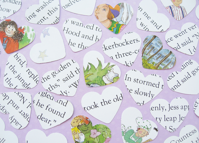 100 Nursery Rhyme Story Confetti Hearts - Baby Shower Birthday Party Christening