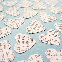 300 Personalised Heart Confetti - Custom Hearts - Wedding Decor