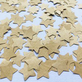 SPECIAL OFFER 1100 Brown Kraft Paper Confetti Stars - Table Decor