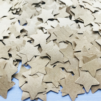 2000 Brown Kraft Paper Confetti Stars - Wedding Party Table Decor
