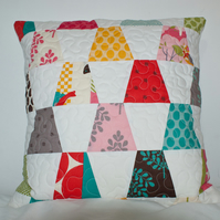 Patchwork cushion cover  - It's a Hoot