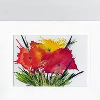 Greeting Card with original artwork print